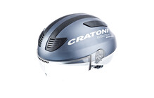 Cratoni Evolution Casque vlo de ville blue-silver rubber finish gris